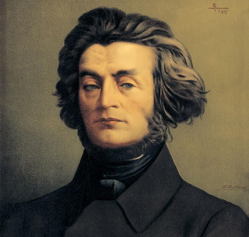Adam Mickiewicz 1897 - portret, malowal S.Chejmann. Reprodukcja: Marek Skorupski / FORUM